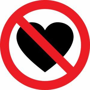 Verboden om van elkaar te houden